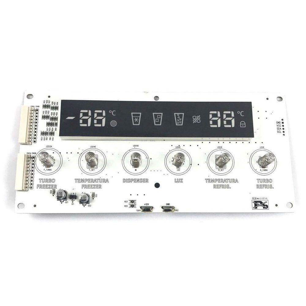 Placa Eletrônica Interface Dispenser Refrigerador Side By Side Electrolux - 30143KR160