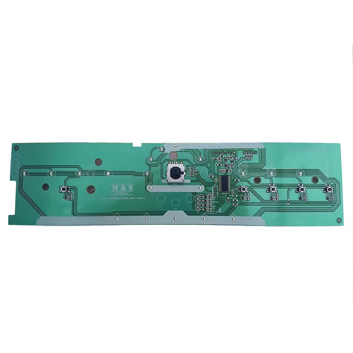 Placa Interface Led Azul Bivolt Para Máquina De Lavar Roupas Brastemp BWL11 BWB11 M&S - 326064442 w10301604 w10356413