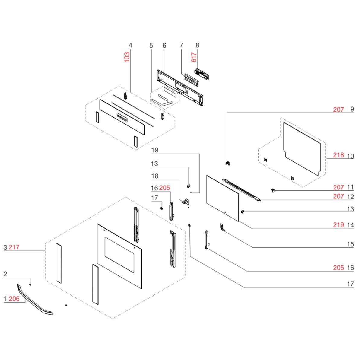Placa Interface Para Forno Elétrico Electrolux OE8TX OE9ST - 291400100028 A08315001