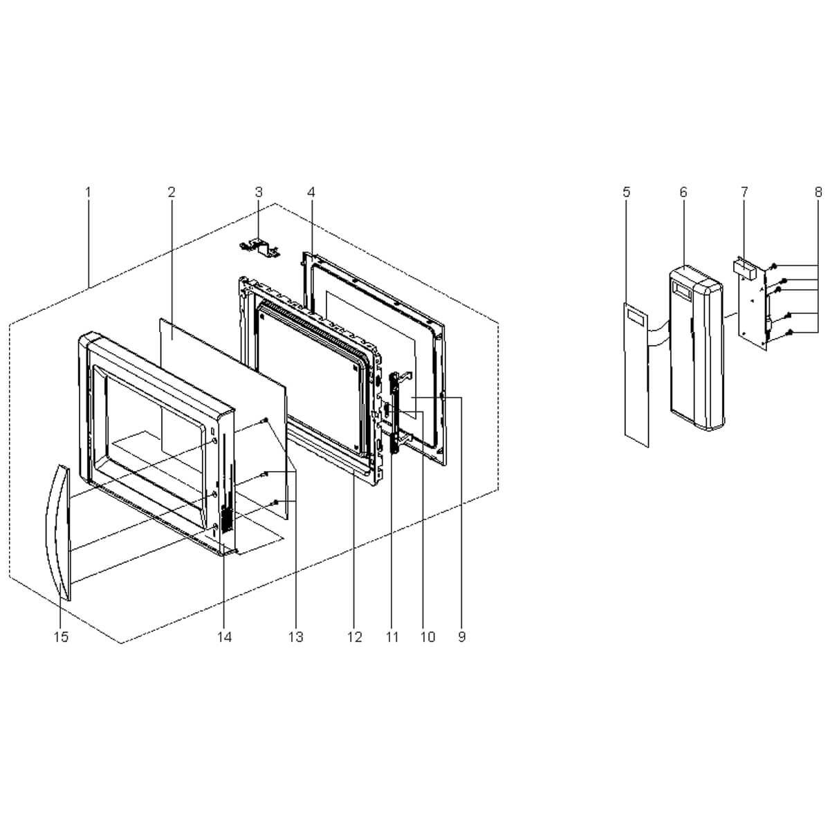 Placa Principal Display 127V  Para Micro-ondas Electrolux MEV41 - 70001681 A20769601