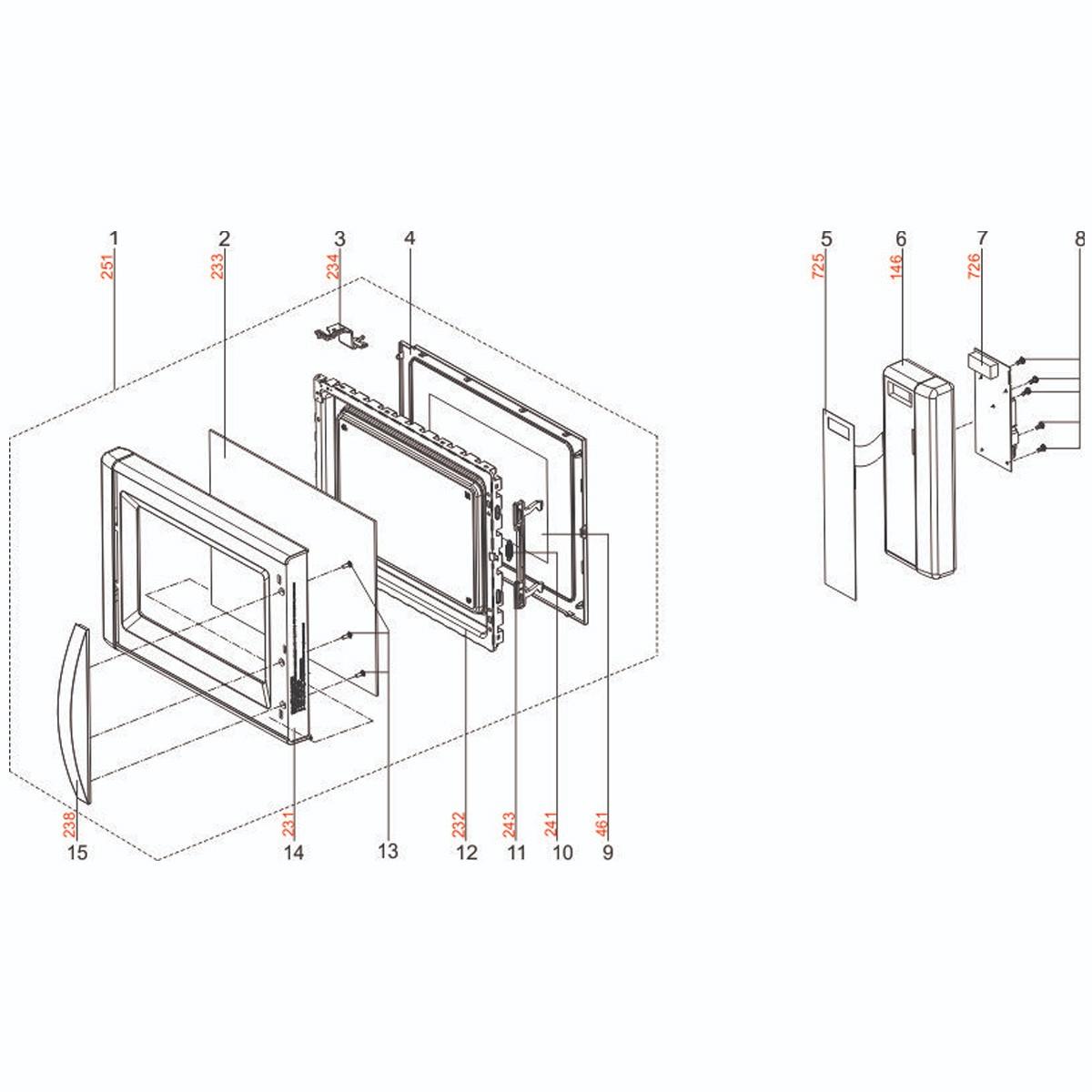 Placa Principal Display Microondas Electrolux 220v - 70001682