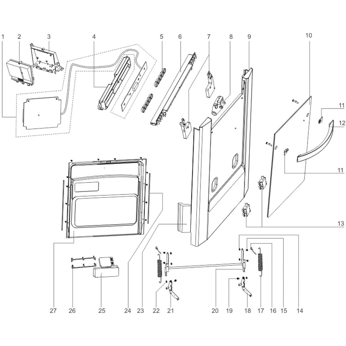 Placa Principal Para Lavadora De Louças Electrolux LE09B LE09X - 674001001436