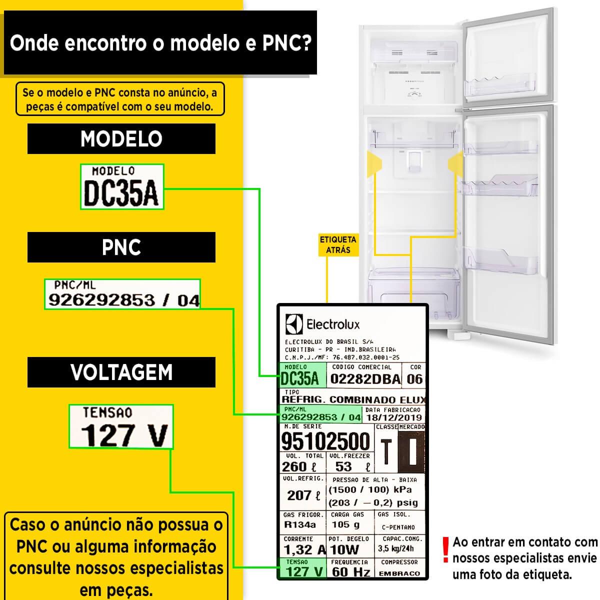 Prateleira Acrílica Para Refrigerador Electrolux DF35 DC45 DC46 DC47 - 77490706
