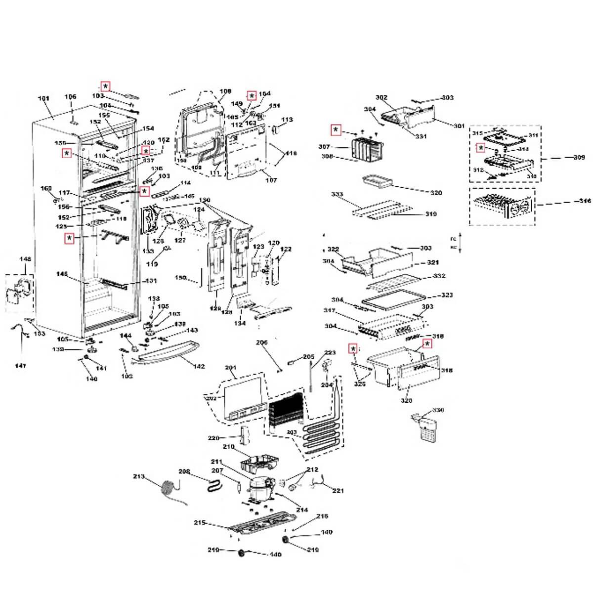 Prateleira De Vidro Para Geladeira Brastemp - 326068809