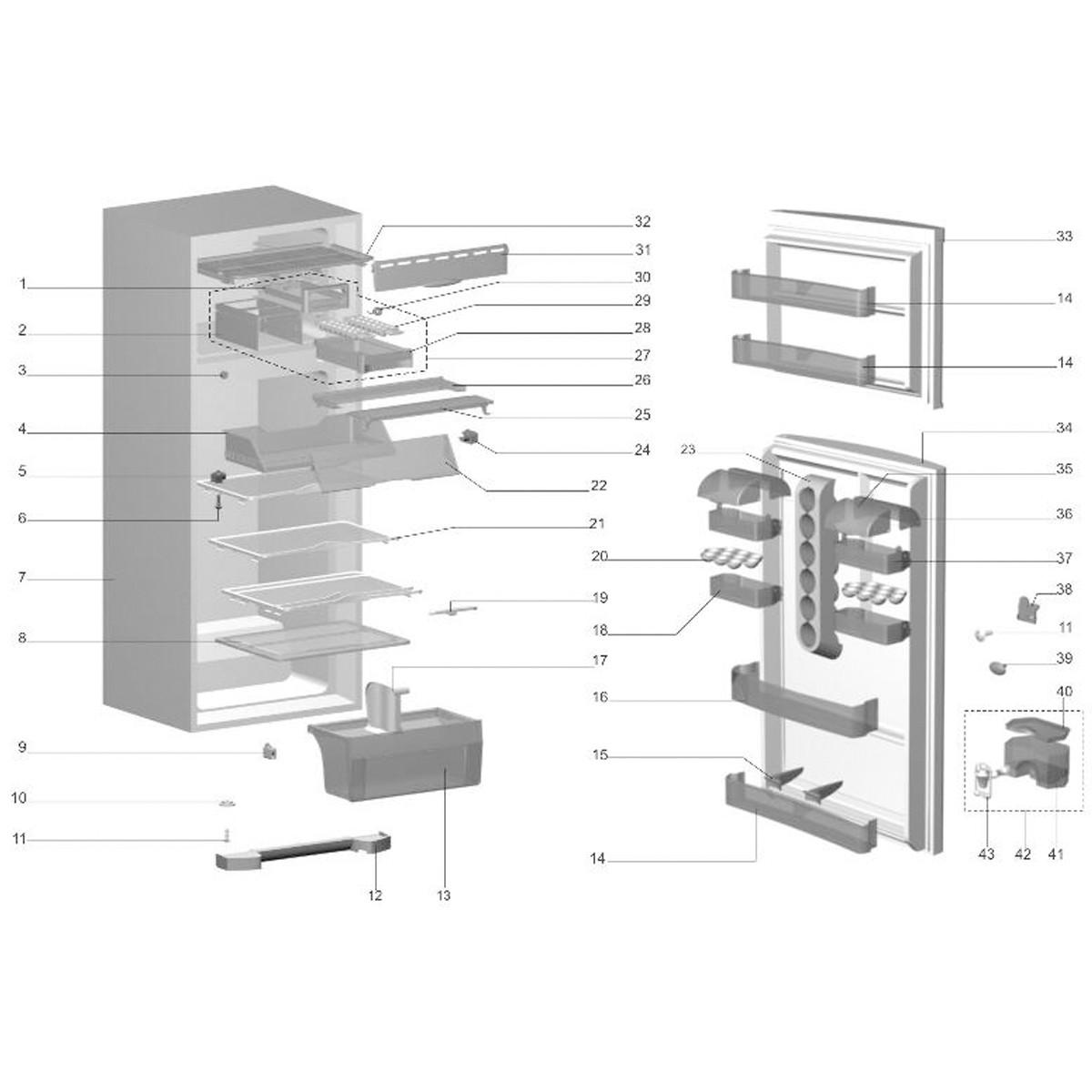 Prateleira Dianteira Do Refrigerador Electrolux - 77490705