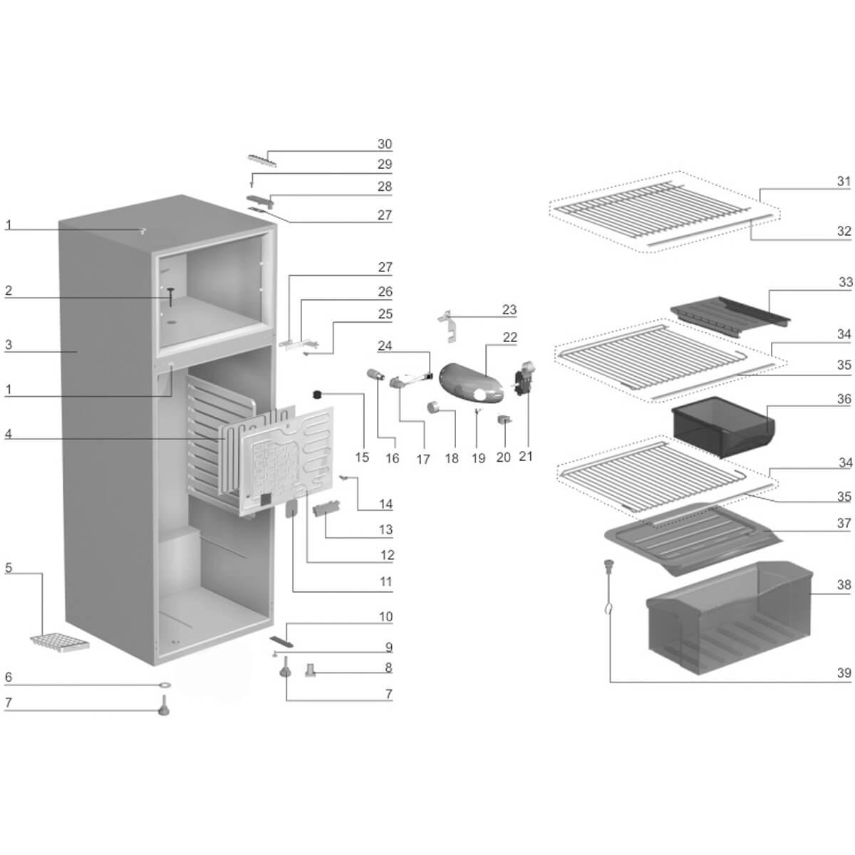 Prateleira Do Freezer Com Friso Refrigerador Electrolux - 60200360