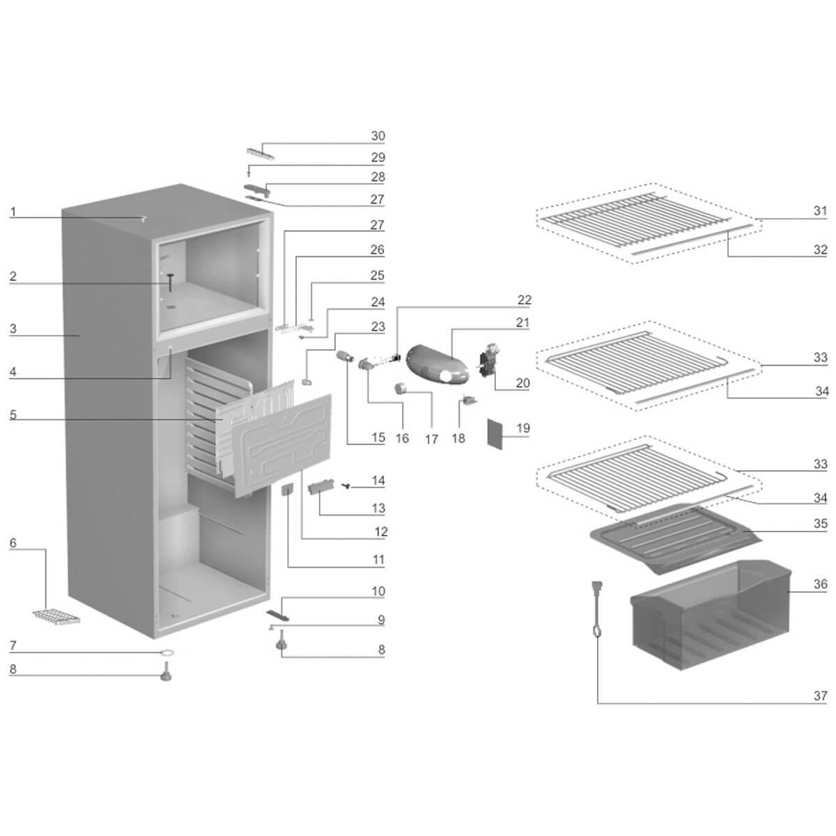 Prateleira Do Refrigerador Electrolux - 60200459