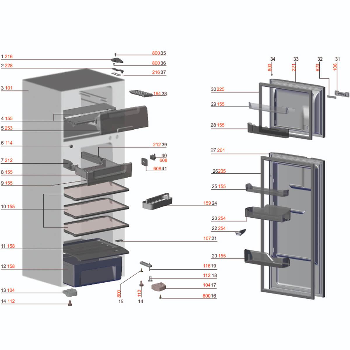 Prateleira Drink Express Para Refrigerador Electrolux DFN39 DFX39 DFN41 DFX41 - 67404018