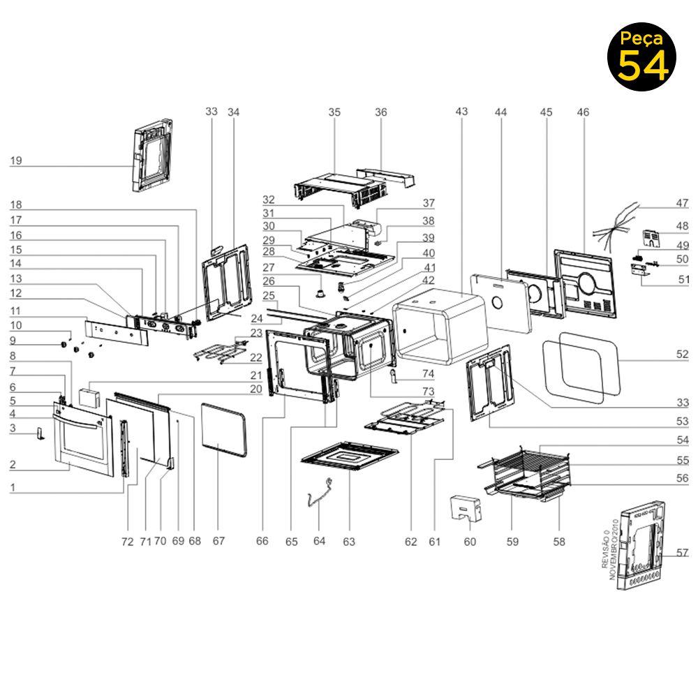 Prateleira Forno de Embutir Elétrico Electrolux OE7MX OE7MB - 251668901001