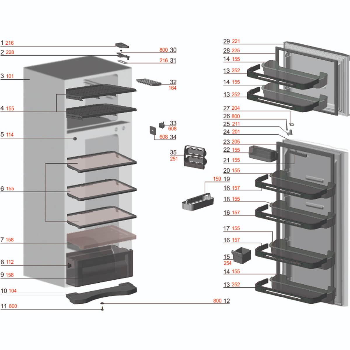 Prateleira Média Da Porta Do Refrigerador Electrolux - 67401948