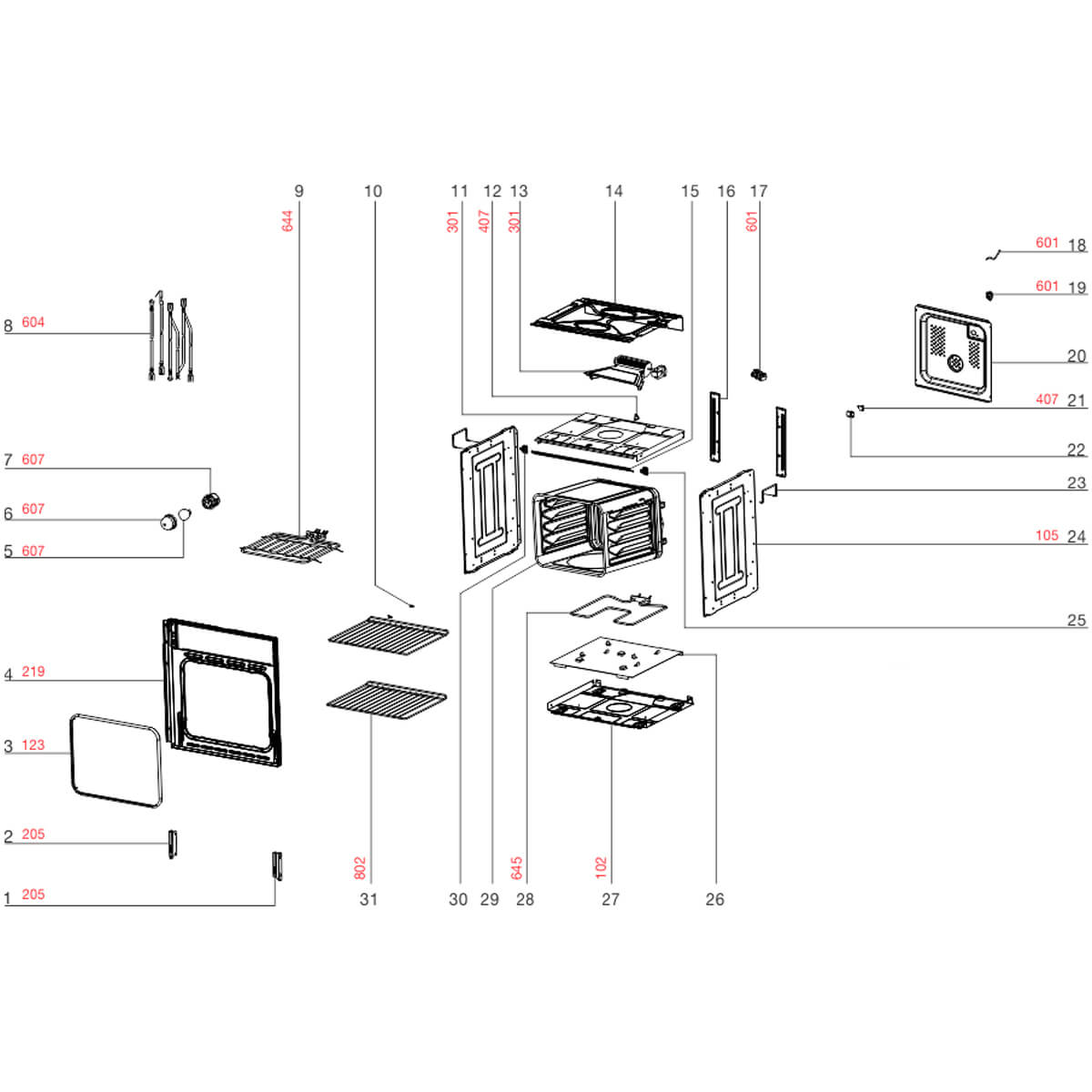 Prateleira Para Forno Elétrico OE60M Electrolux -  A12497701