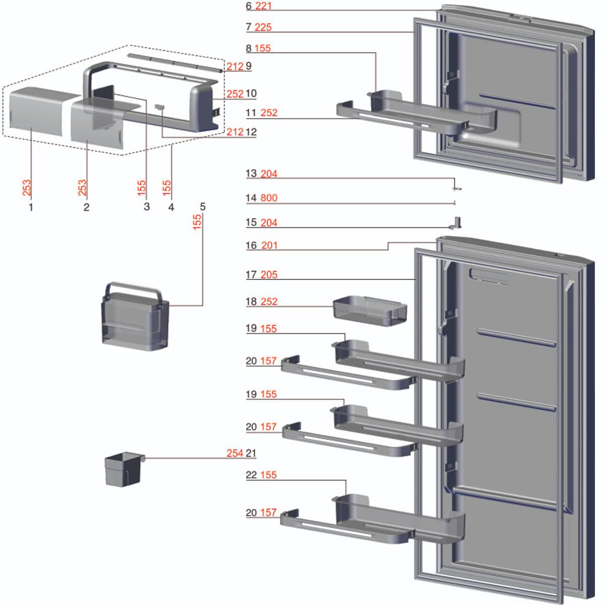 Prateleira Pequena da Porta Do Refrigerador Electrolux DF52 DF52X DFW52 DW52X - 67403197