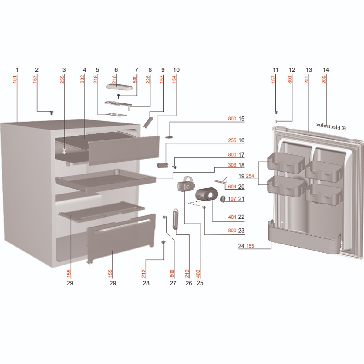 Prateleira Pequena Para Frigobar Electrolux RE80 RE120 - 67492485
