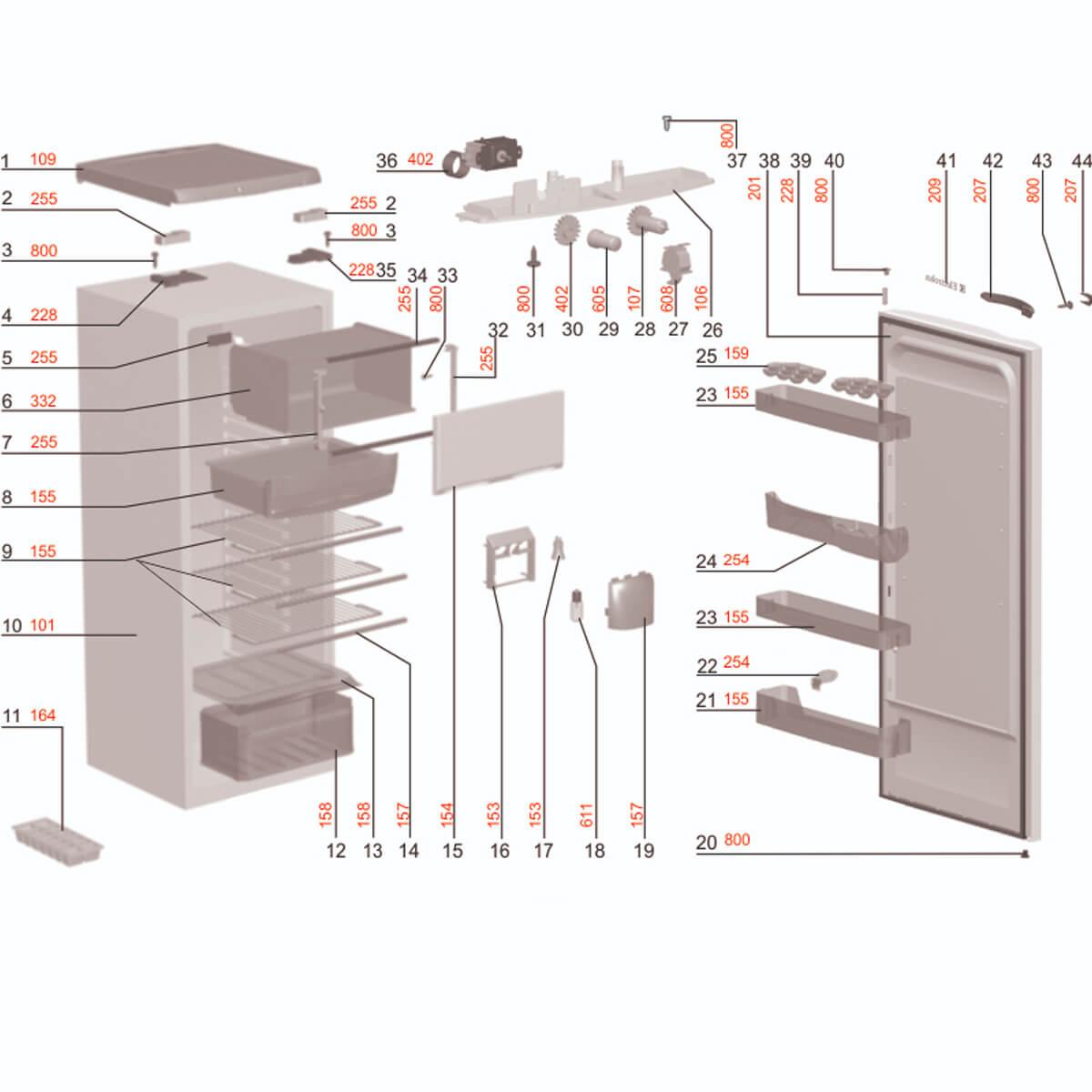 Prateleira Rasa Para Refrigerador Electrolux - 77491238