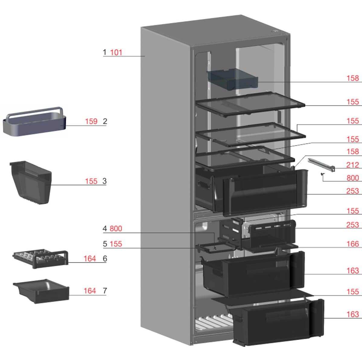 Prateleira Retrátil Para Refrigerador Electrolux DB53 DB53X DB52 DB52X - 70002895