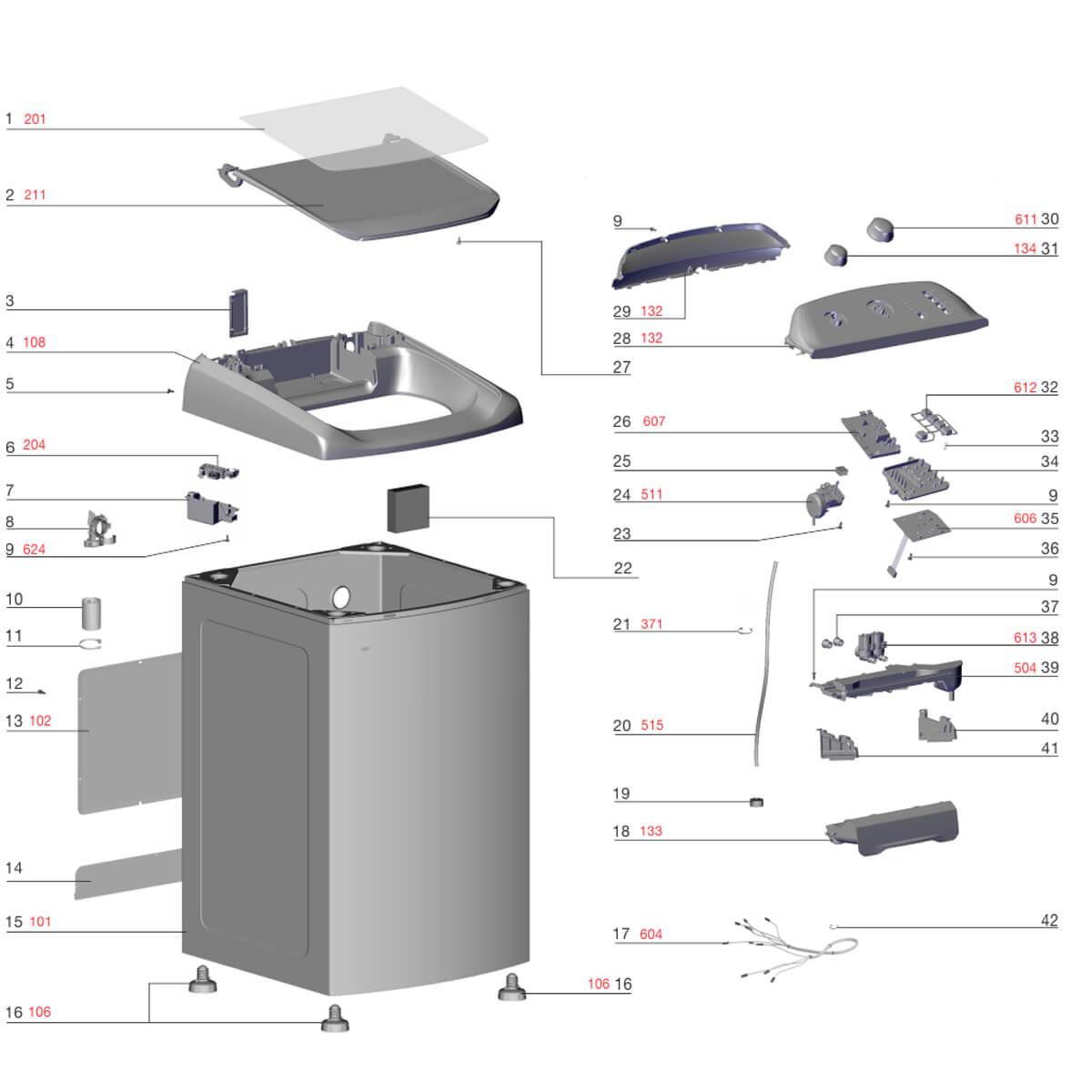 Pressostato 4 Níveis Para Lavadora Lt13b Lt12b Electrolux - 64503116