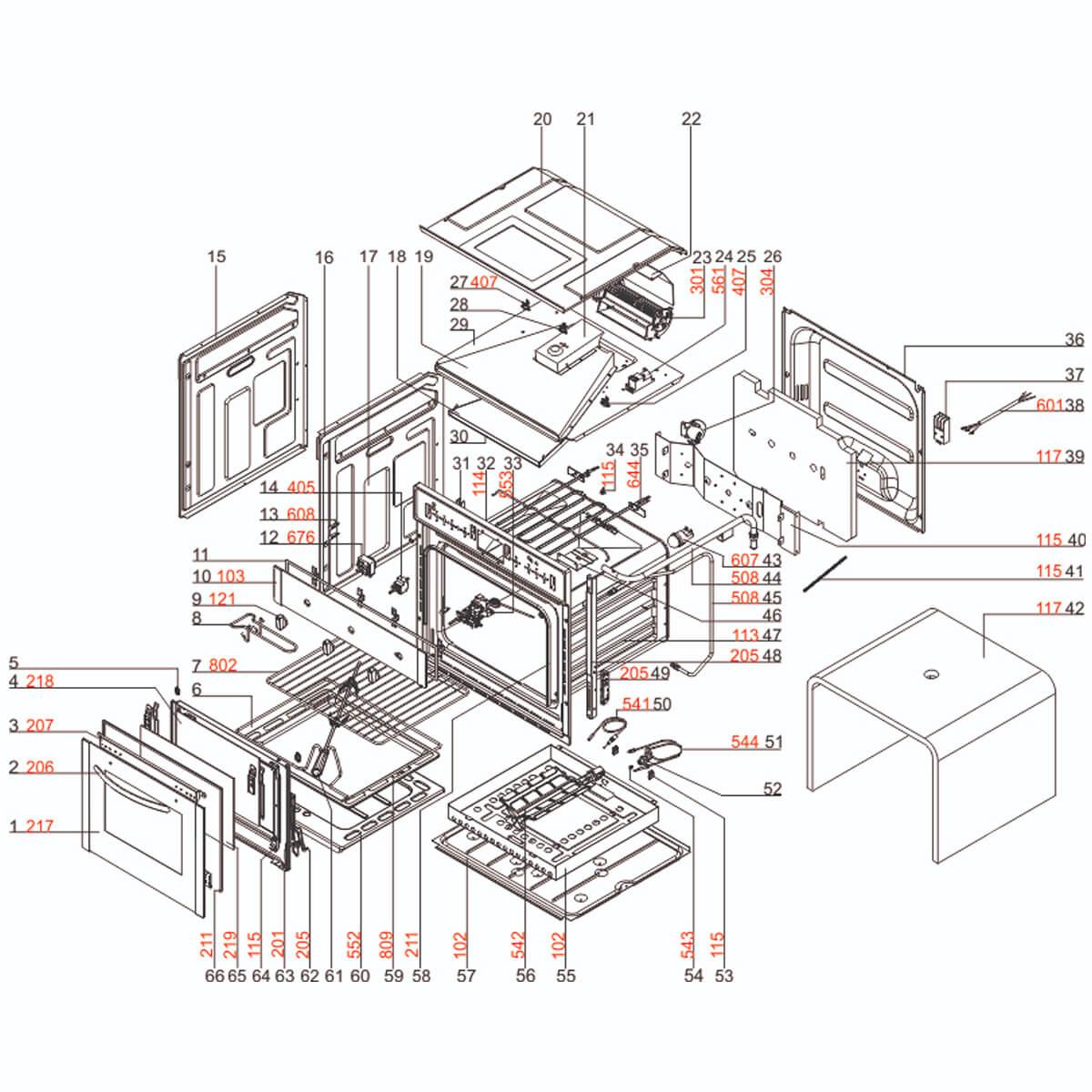 Queimador Forno Electrolux Og7mx Electrolux - 33804001