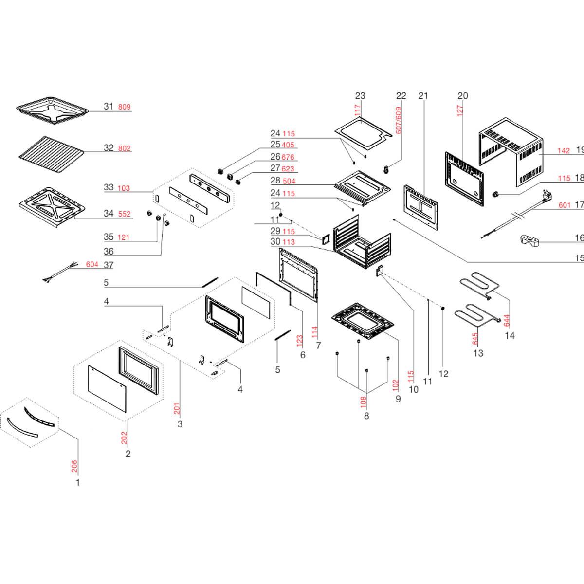 Rede Elétrica Para Forno Elétrico Electrolux FB54B FB54X - A13449501