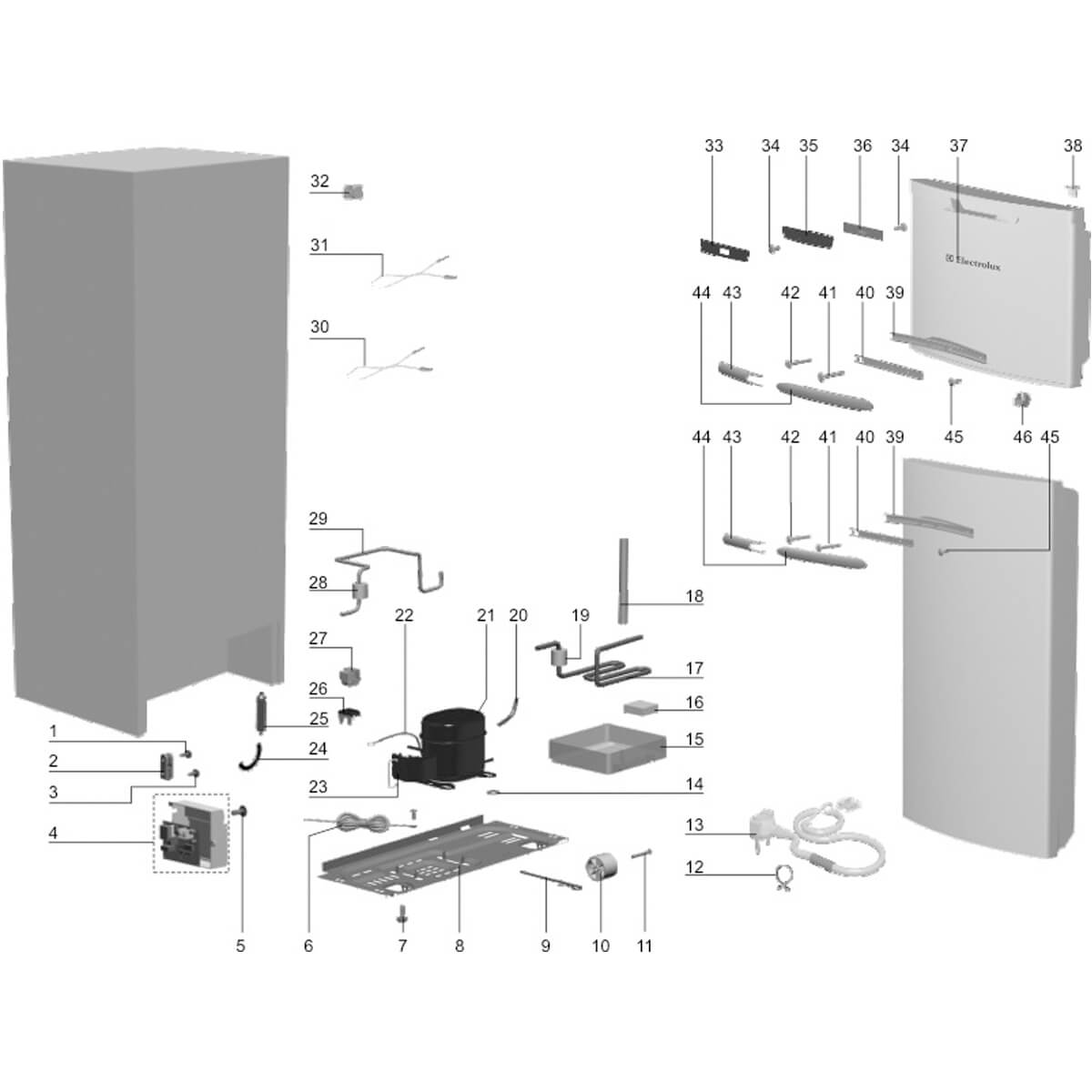 Rede Sensor De Degelo Para Refrigerador Frost Free DFF37 Electrolux  - 70288465