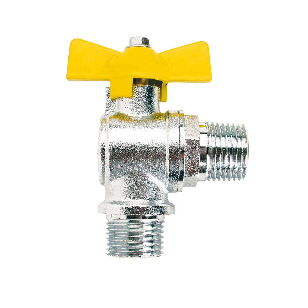 Registro Esfera Borboleta 90º GLP  E1/2 X E1/2 Jackwal - 6094