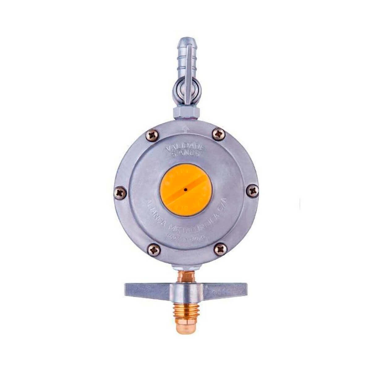Regulador De Pressão Para Gás 2kg/h Com Registro Aliança - 506/10