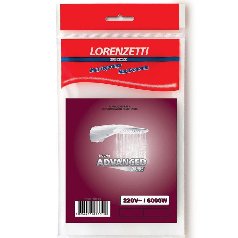 Resistência Advanced Flex 3055-F2 6000W Lorenzetti 220V
