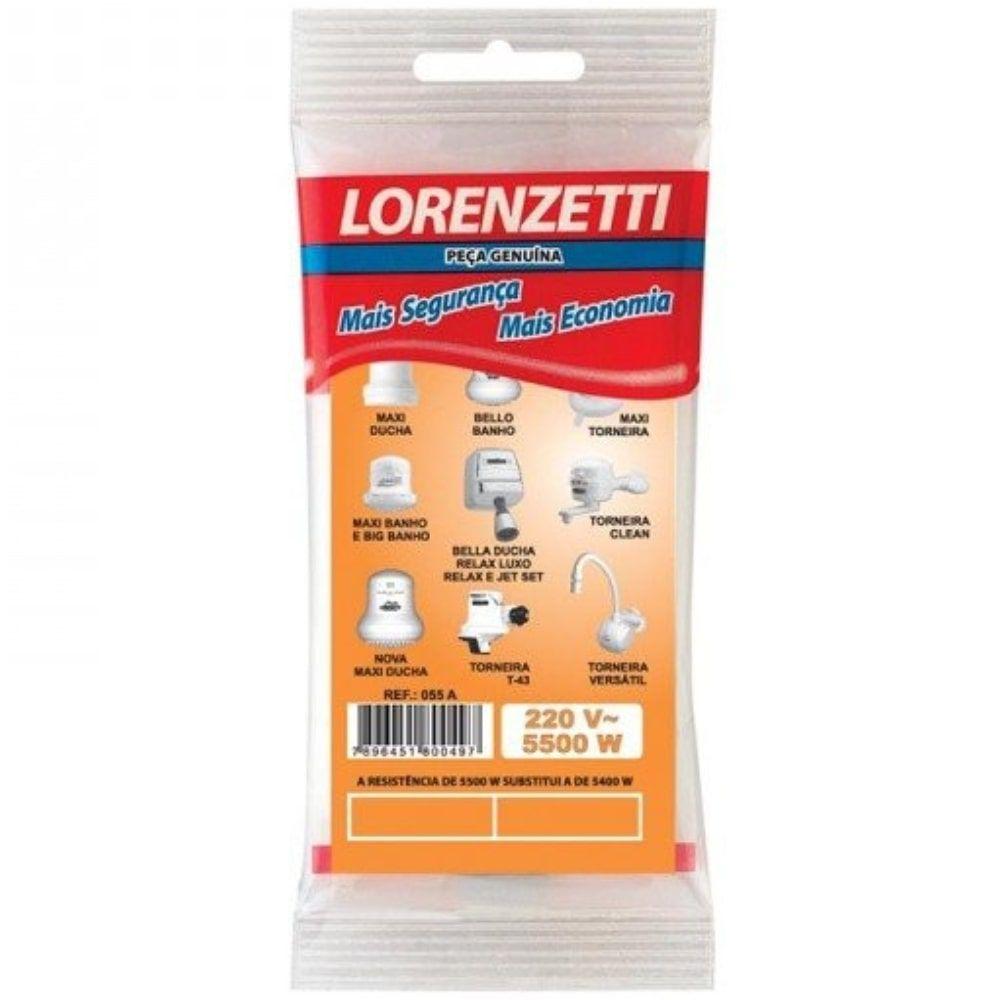 Resistência Para Chuveiro Maxi Bello Bella 055 A 5.500W Lorenzetti 220V