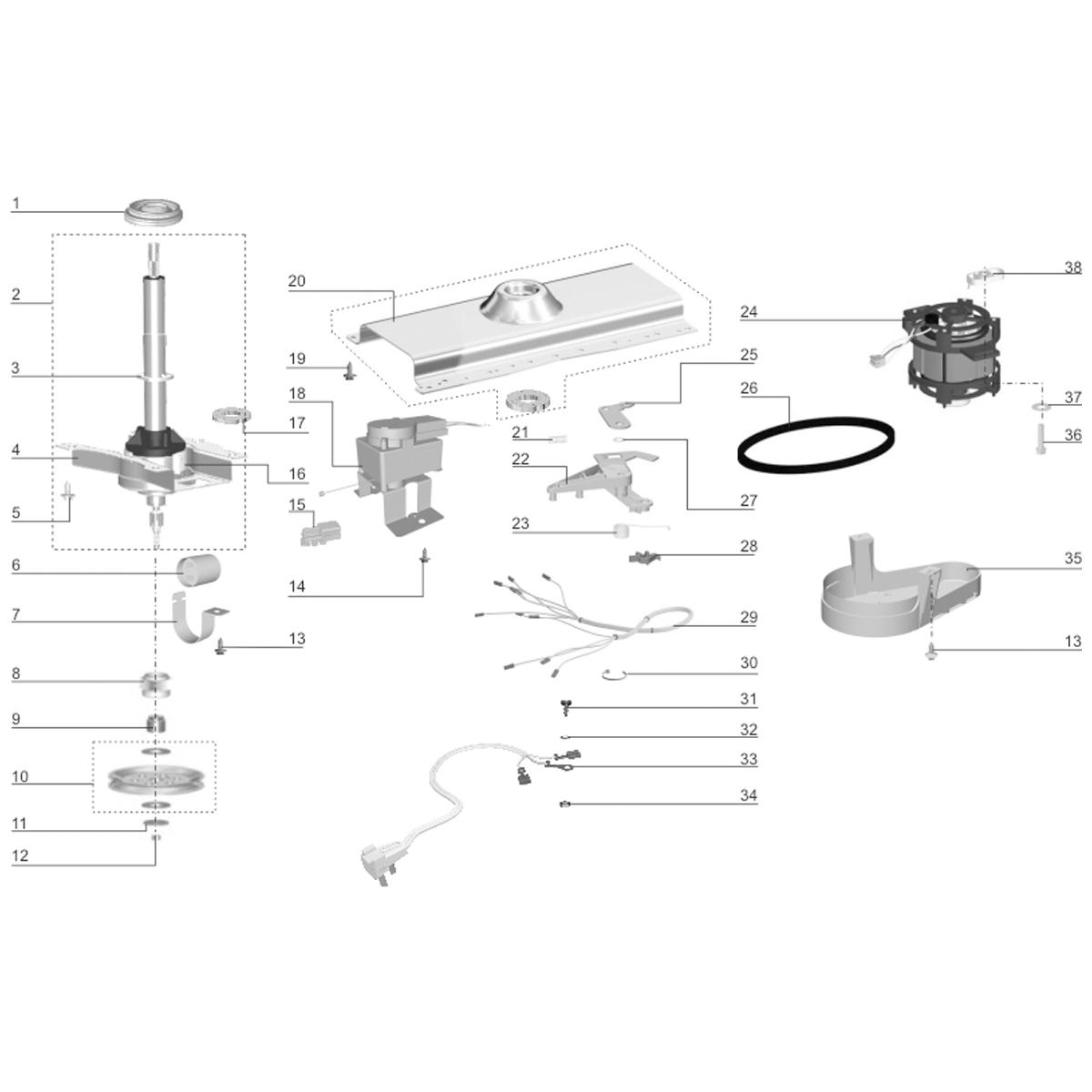 Retentor Tanque Lavadora De Roupas Electrolux LF75 LF80 LTE09 LTR10 - 65477810