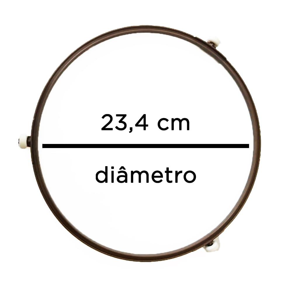 Rodizio Suporte Do Prato 23,4cm Roda 14mm Microondas Diversos JRK