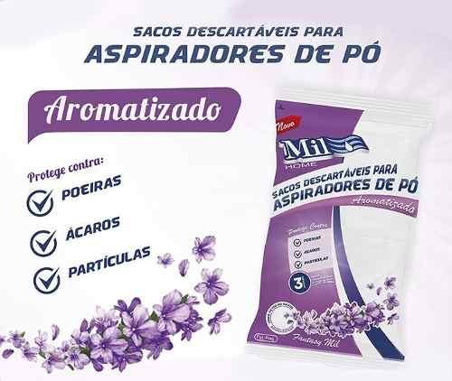 Sacos Descartáveis Para Aspirador de Pó Electrolux Aromatizados Lavanda Mil Home - 009528
