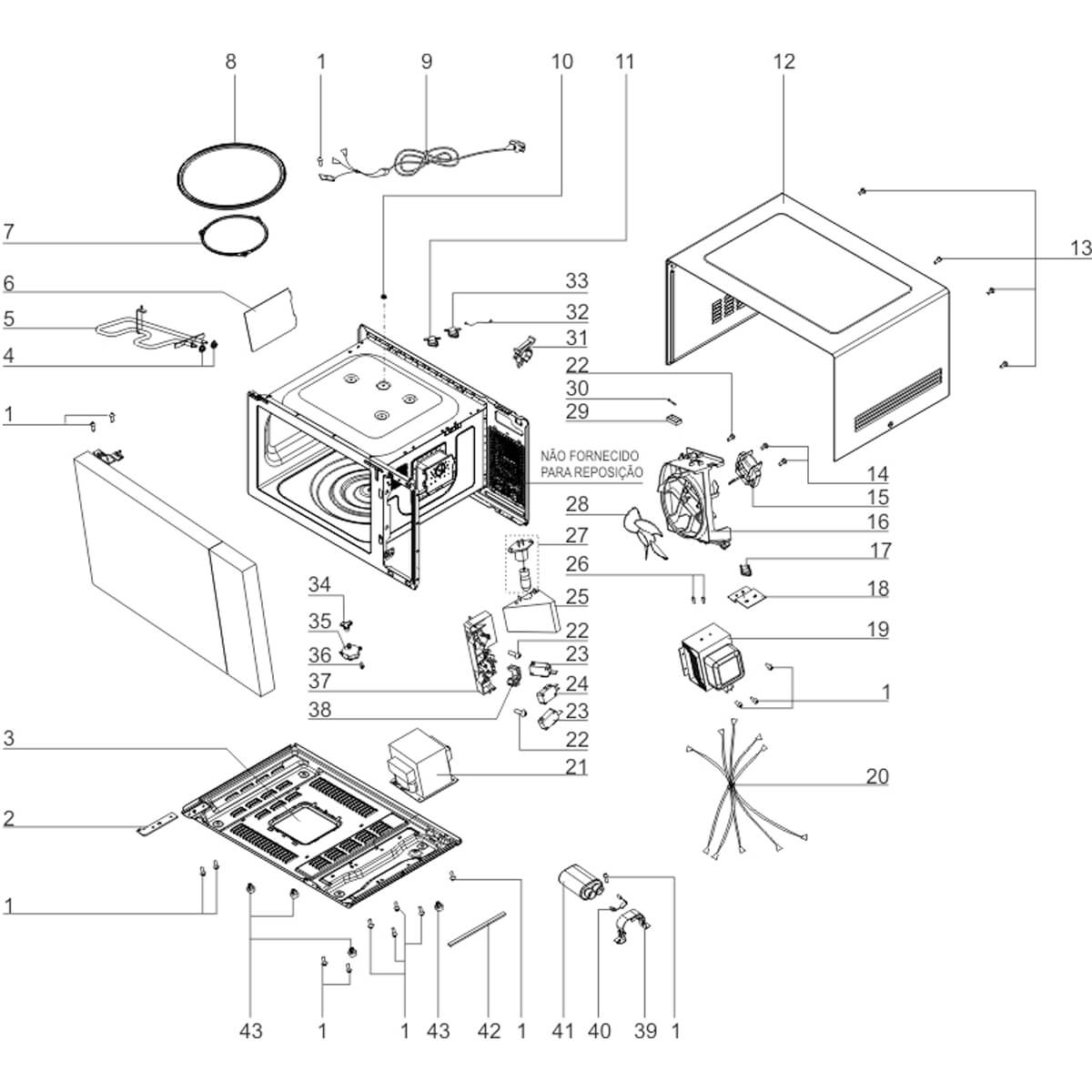 Soquete Com Lâmpada Para Micro-ondas Electrolux - 263600500006