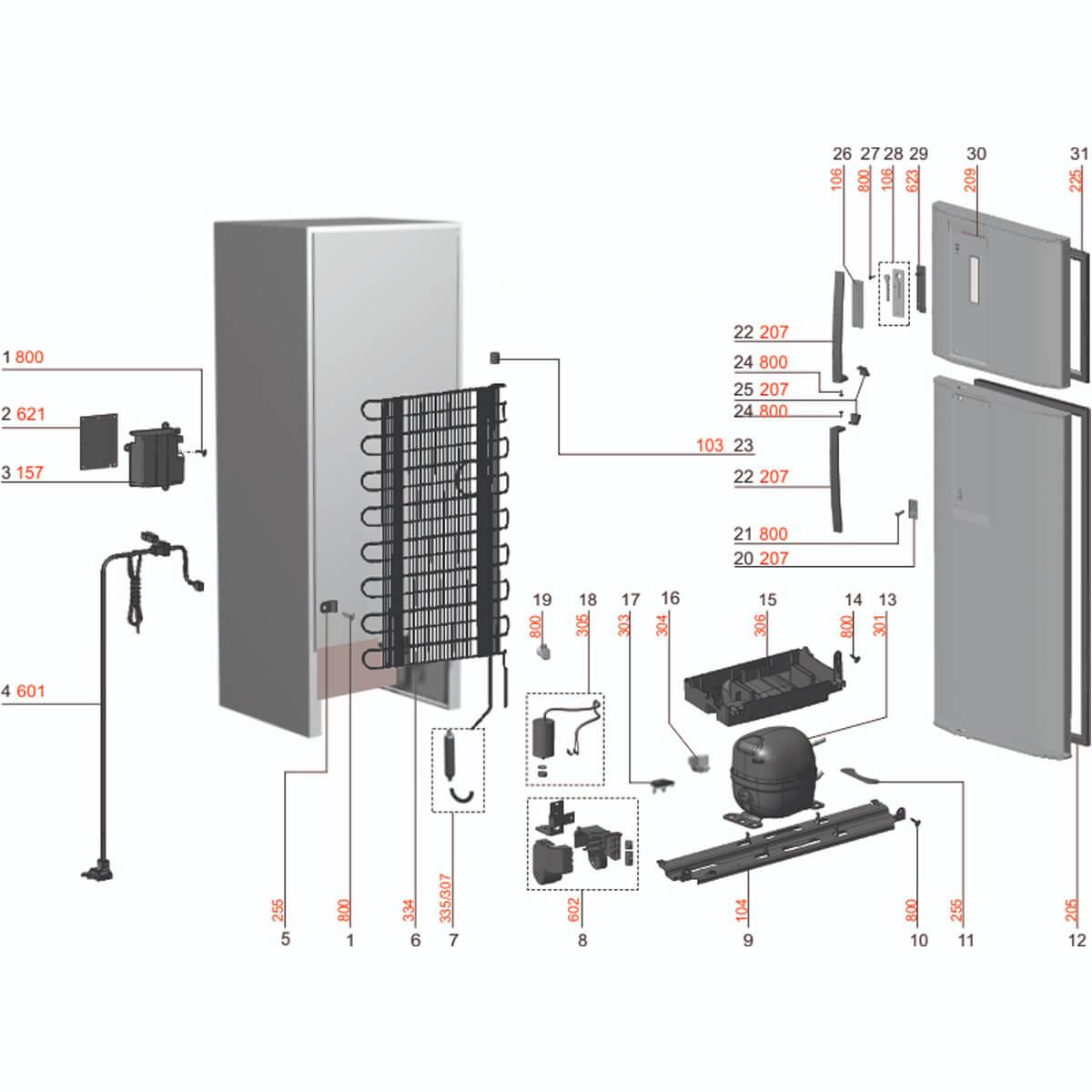 Suporte Do Puxador Superior Inox Para Refrigerador Electrolux - 67401663