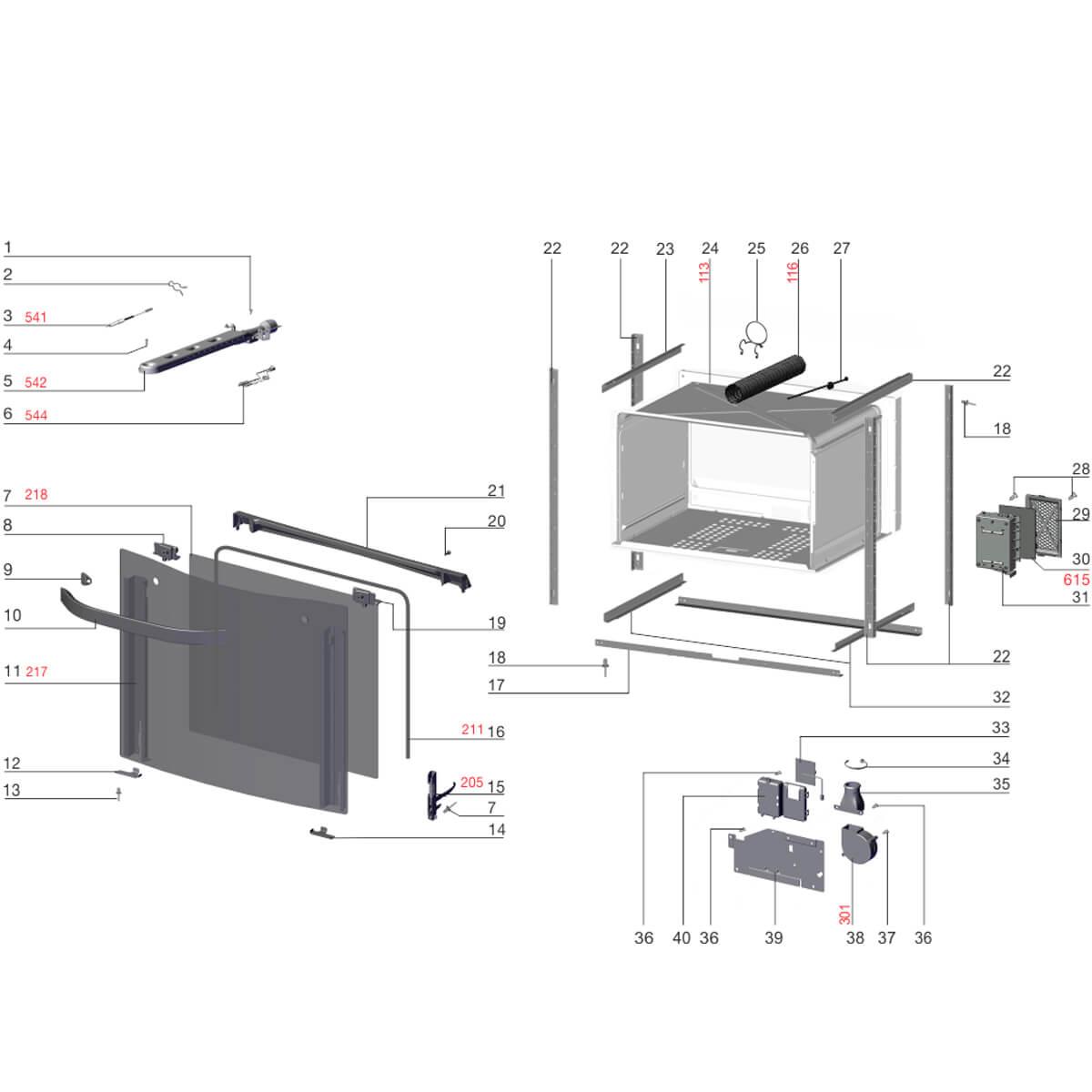 Suporte Inferior Direito Do Vidro Para Fogão Electrolux -  72600902