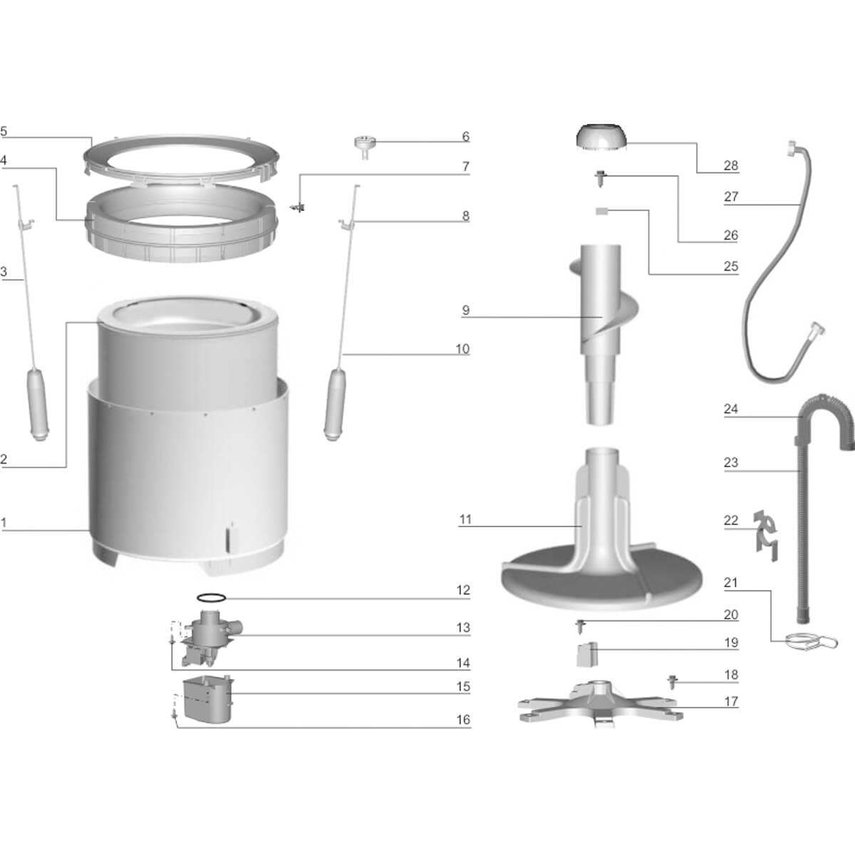 Suspensão Mola Menor Para Lavadora De Roupas Electrolux - 70096005