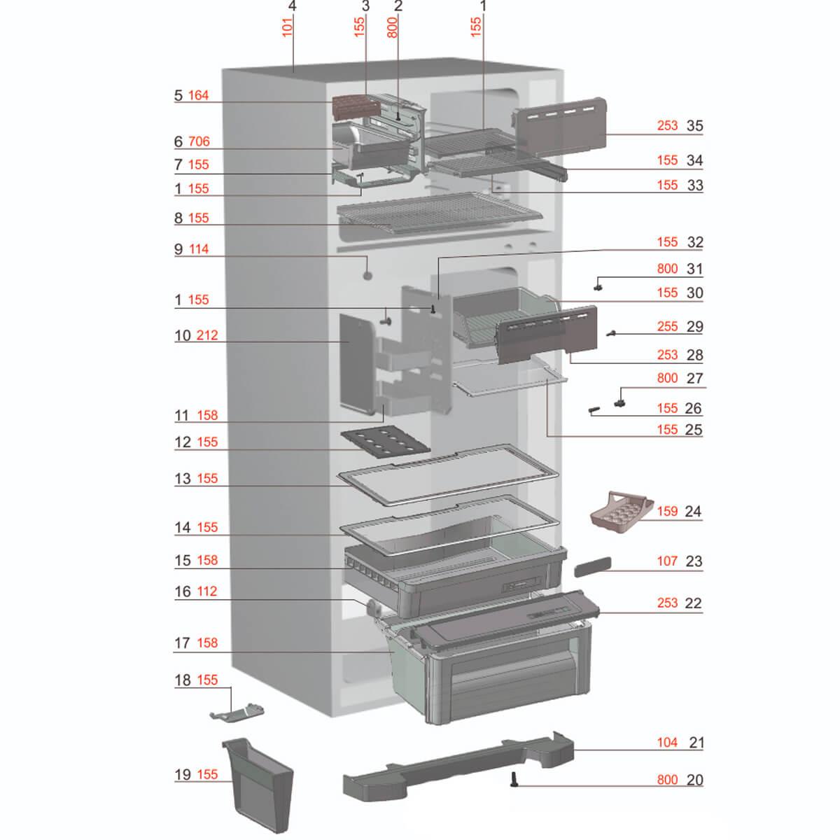 Tampa Basculante Freezer Refrigerador Electrolux - 67496378