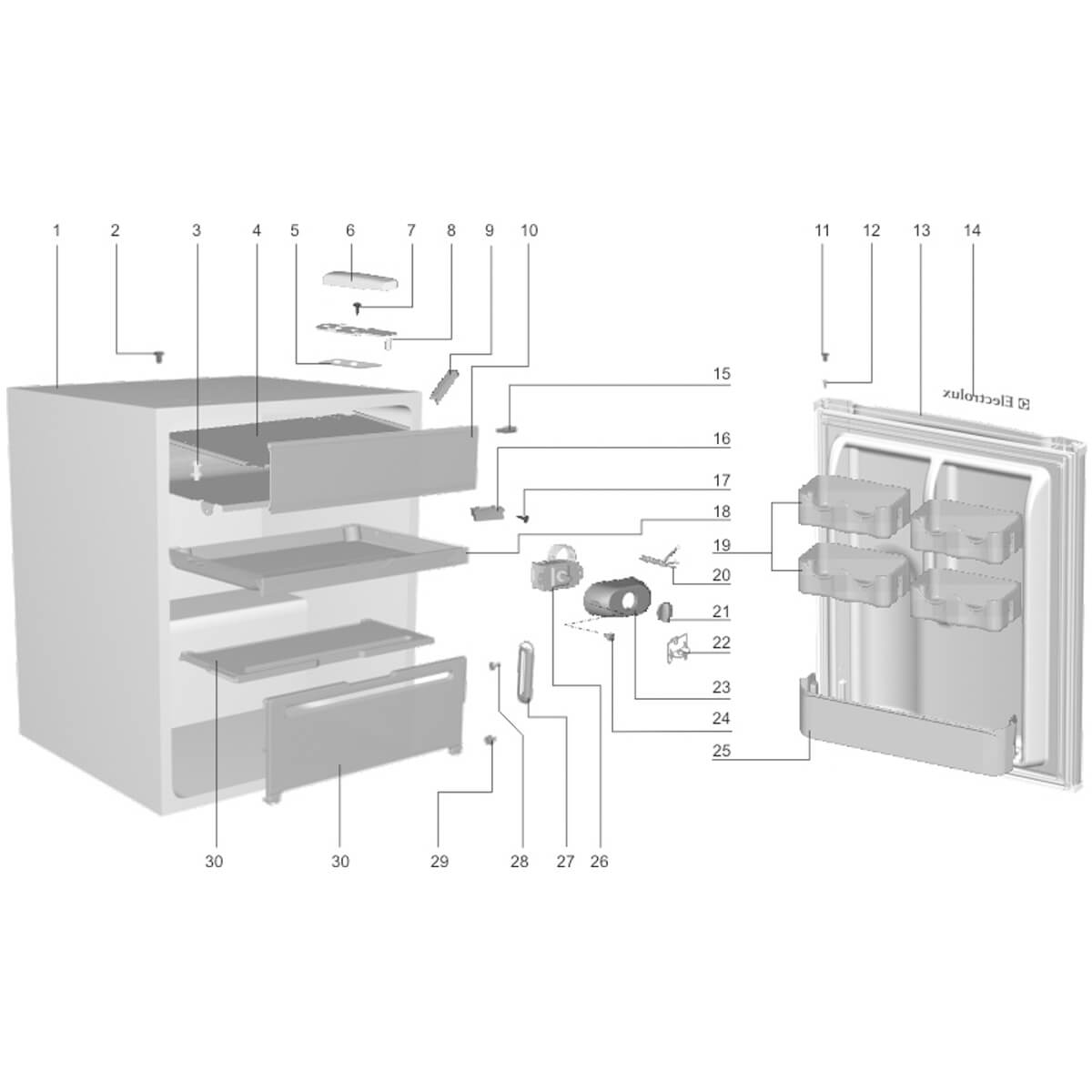 Tampa Do Evaporador Para Frigobar Electrolux RE80 RE120 - 77187660