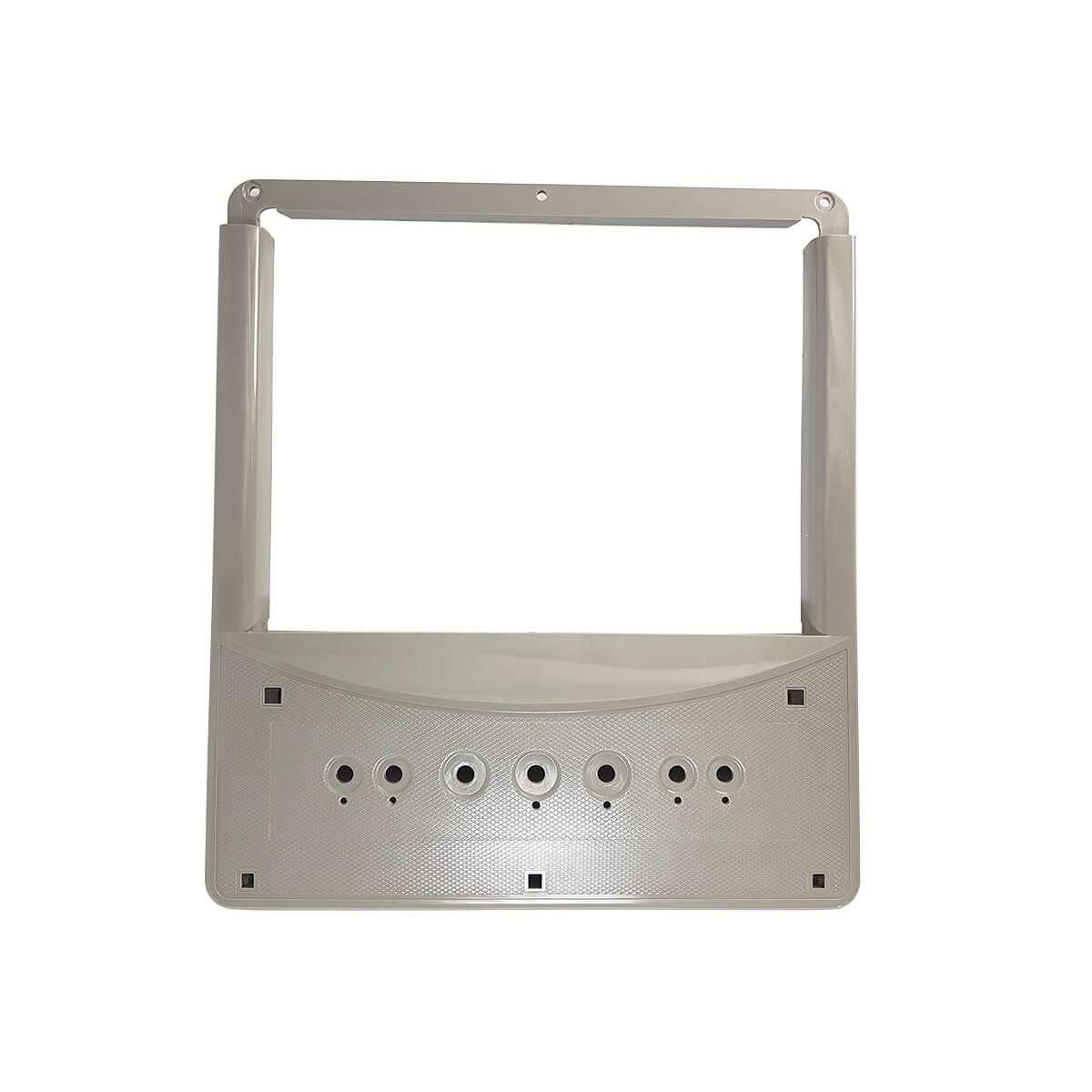 Tampa Módulo Prata Metálico Para Refrigerador Electrolux SS76X SS77X - 41678710