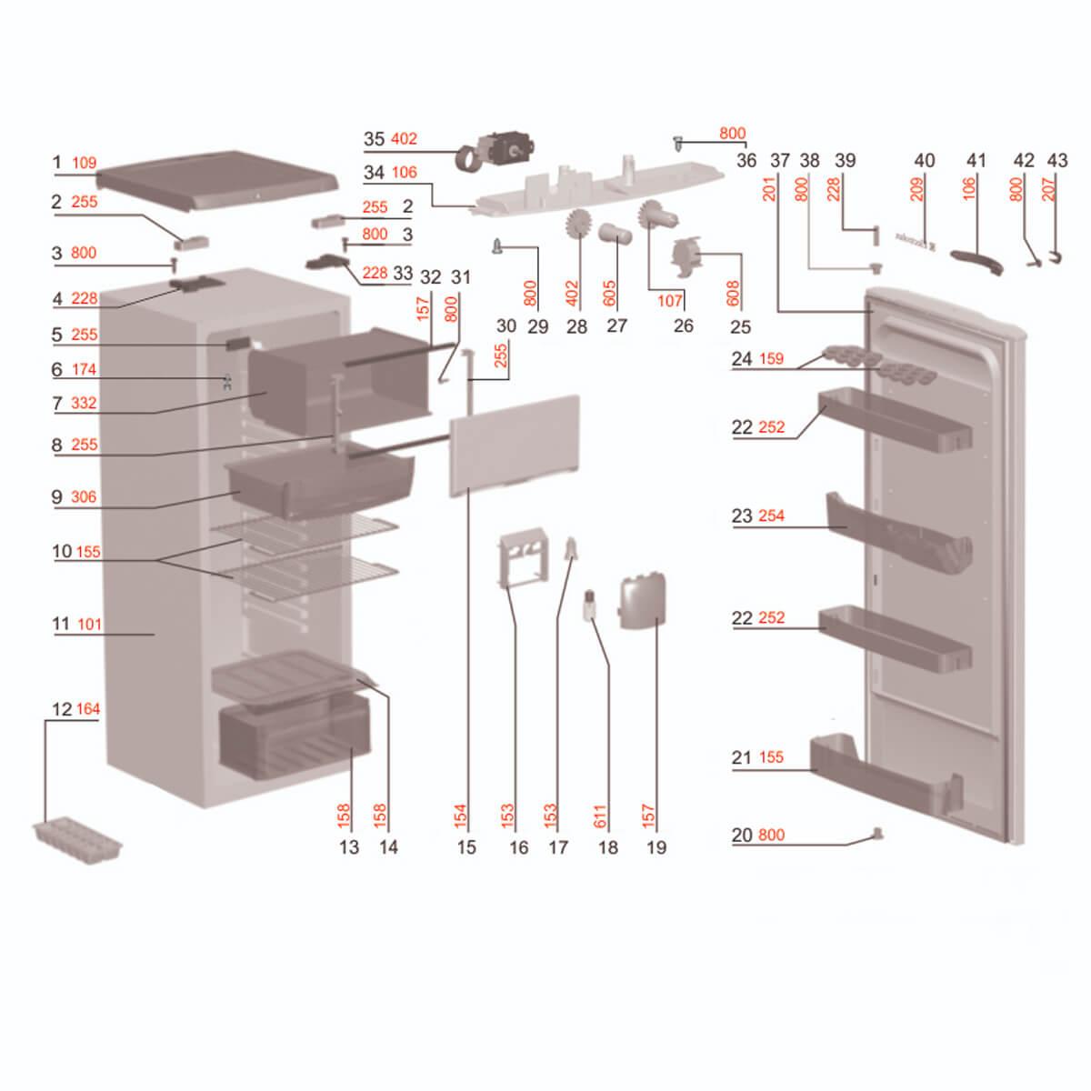 Tampo Superior Branco Geladeira Electrolux RE28 -  67400014