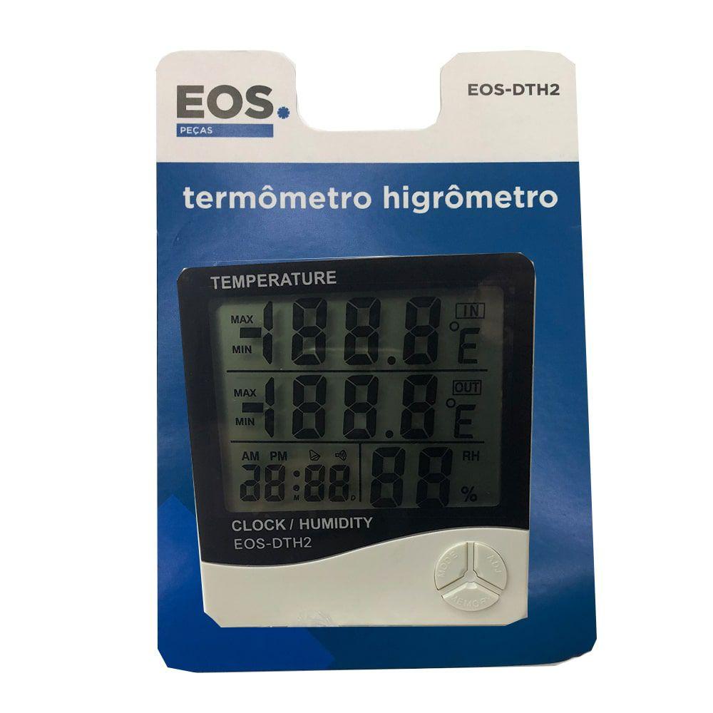Termo-higrômetro Digital Com Sensor Temperatura Interna Externa Eos - Dth2
