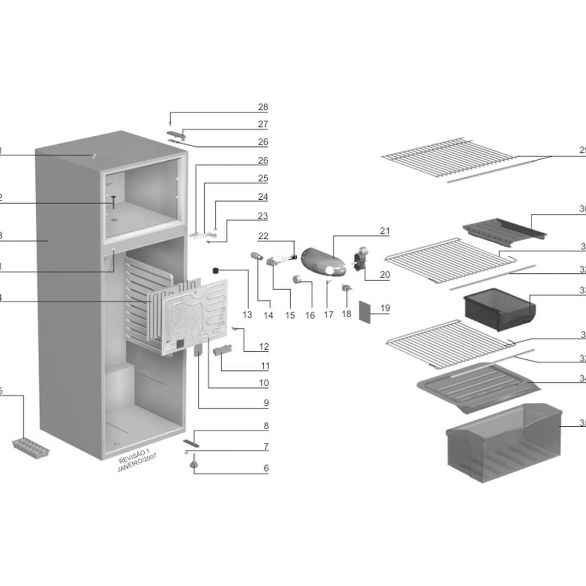 Termostato Baixo Ruído Para Refrigerador Electrolux - 64786916