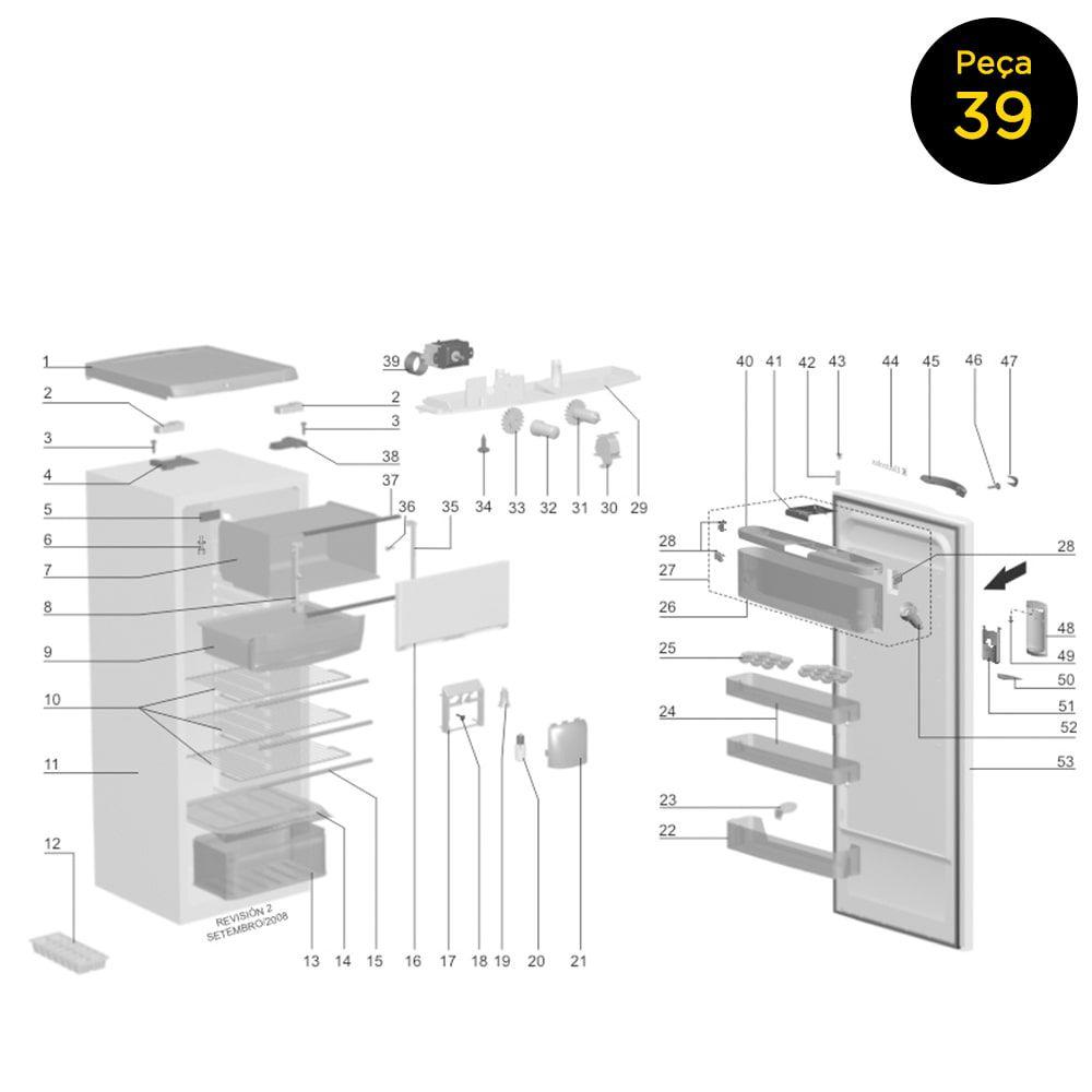 Termostato Bivolt Tsv00110 Para Refrigerador Electrolux RE28 RE35 - 64786945