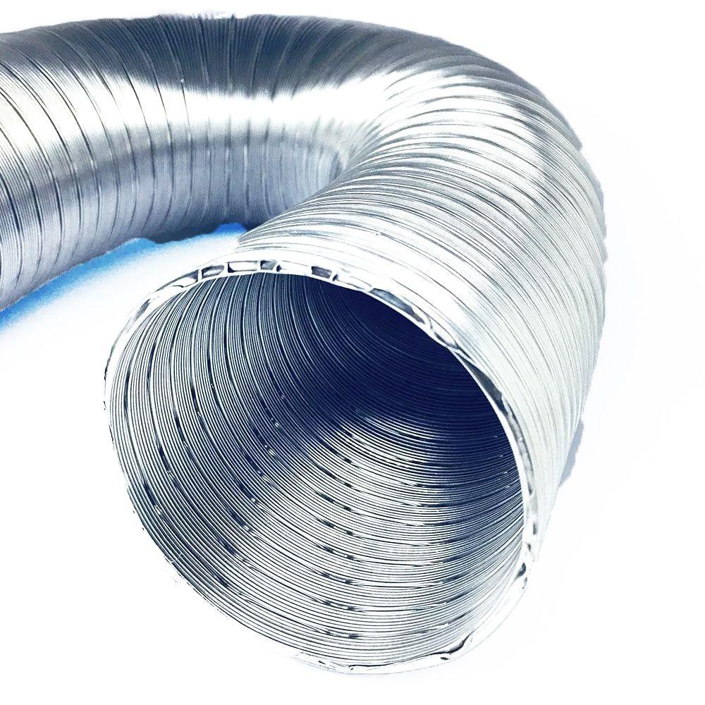 Tubo Flexível de Alumínio Flextic Para Aquecedor de Água a Gás Diâmetro 100mm Comprimento 3m