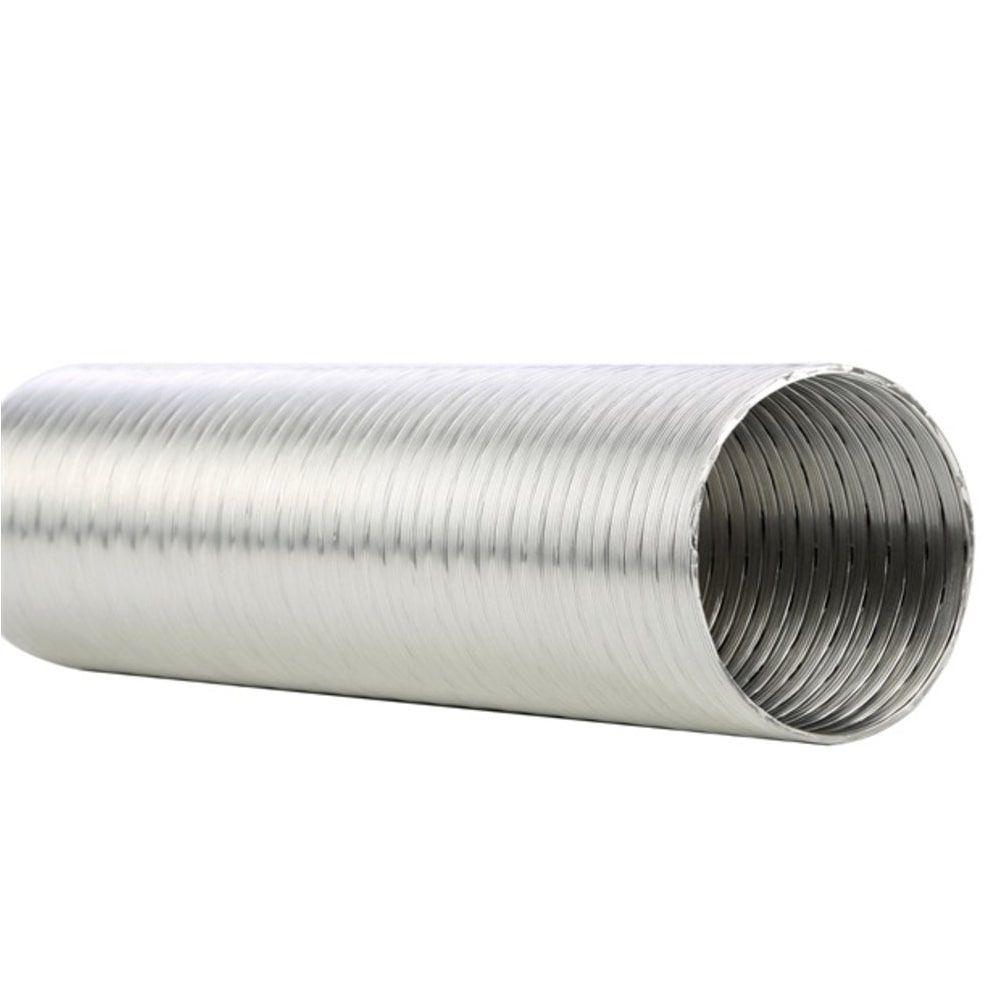 Tubo Flexível de Alumínio Flextic Para Aquecedor de Água a Gás Diâmetro 150mm Comprimento 1,5m