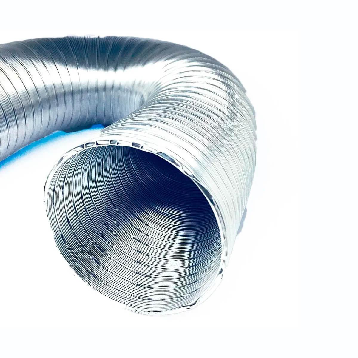 Tubo Flexível de Alumínio Flextic Para Aquecedor de Água a Gás Diâmetro 60mm Comprimento 1,0m