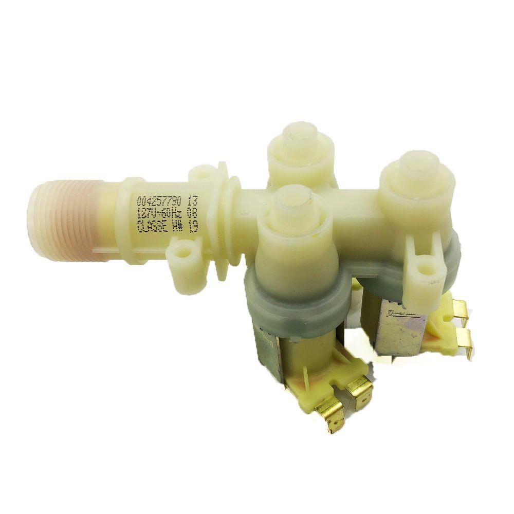Válvula De Água Tripla Lavadora de Roupas Brastemp 127V Original - 004257790