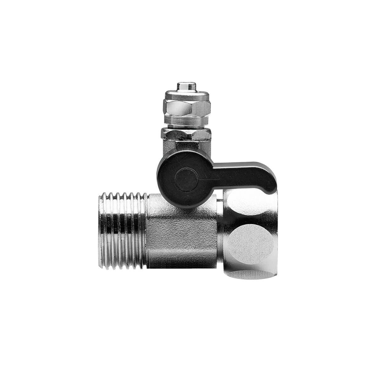 Válvula De Fechamento 3 Vias Metal 1/2 x 1/2 Pol x Tubo 1/4 Pol Planeta Água - AC100