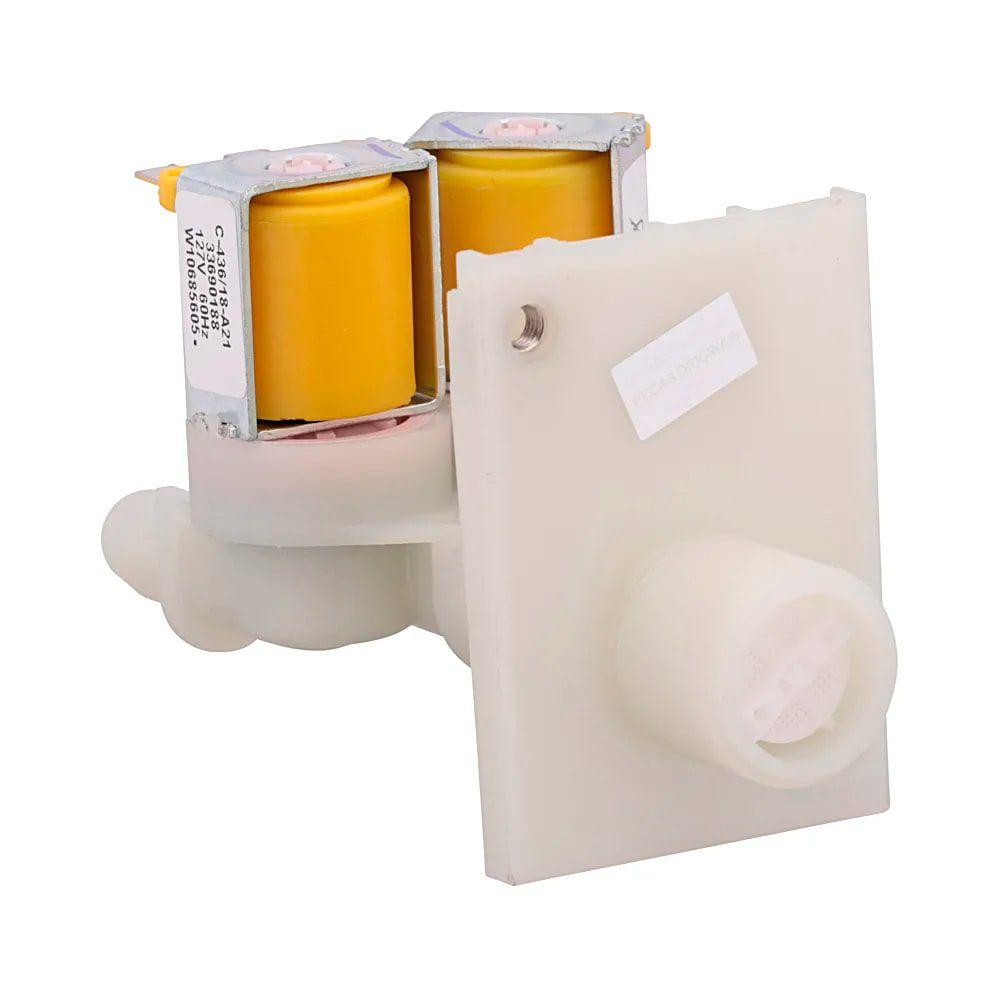 Válvula entrada dupla Para Máquina De Lavar Roupas Brastemp 127V - W10685605