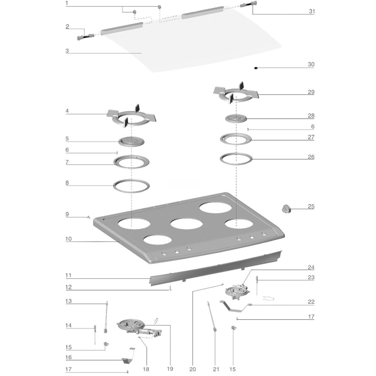 Vedação Arremate Do Queimador Semi Rápido Para Fogão Electrolux 76EGN 76DGN - A02871101