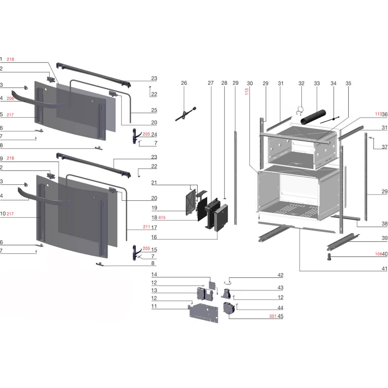 Vidro Externo Porta Forno Fogão 5 Bocas Electrolux -  A12811313