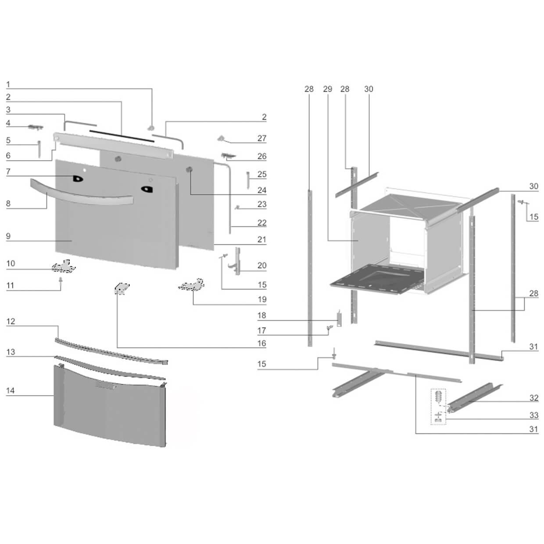 Vidro Frente Fixa Fogão Electrolux -  60017036